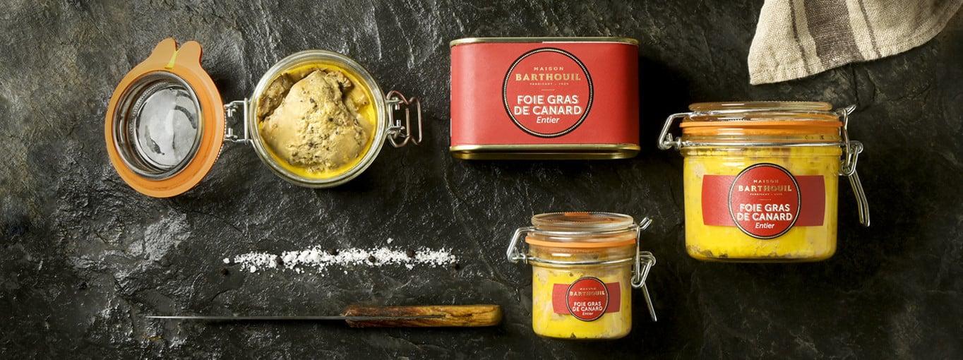 Foie gras de canard conserve | produit artisanal | Maison Barthouil